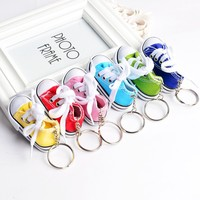 Fashion Promotional Gift Mini Canvas 3d Sneaker Shoes Keychain