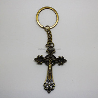 Fashion Bronze Furface Cross Shaped Keychain