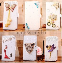 Leather Flip Wallet Case Cover for Samsung Galaxy S3 Mini & S4 Mini Mobile Phone