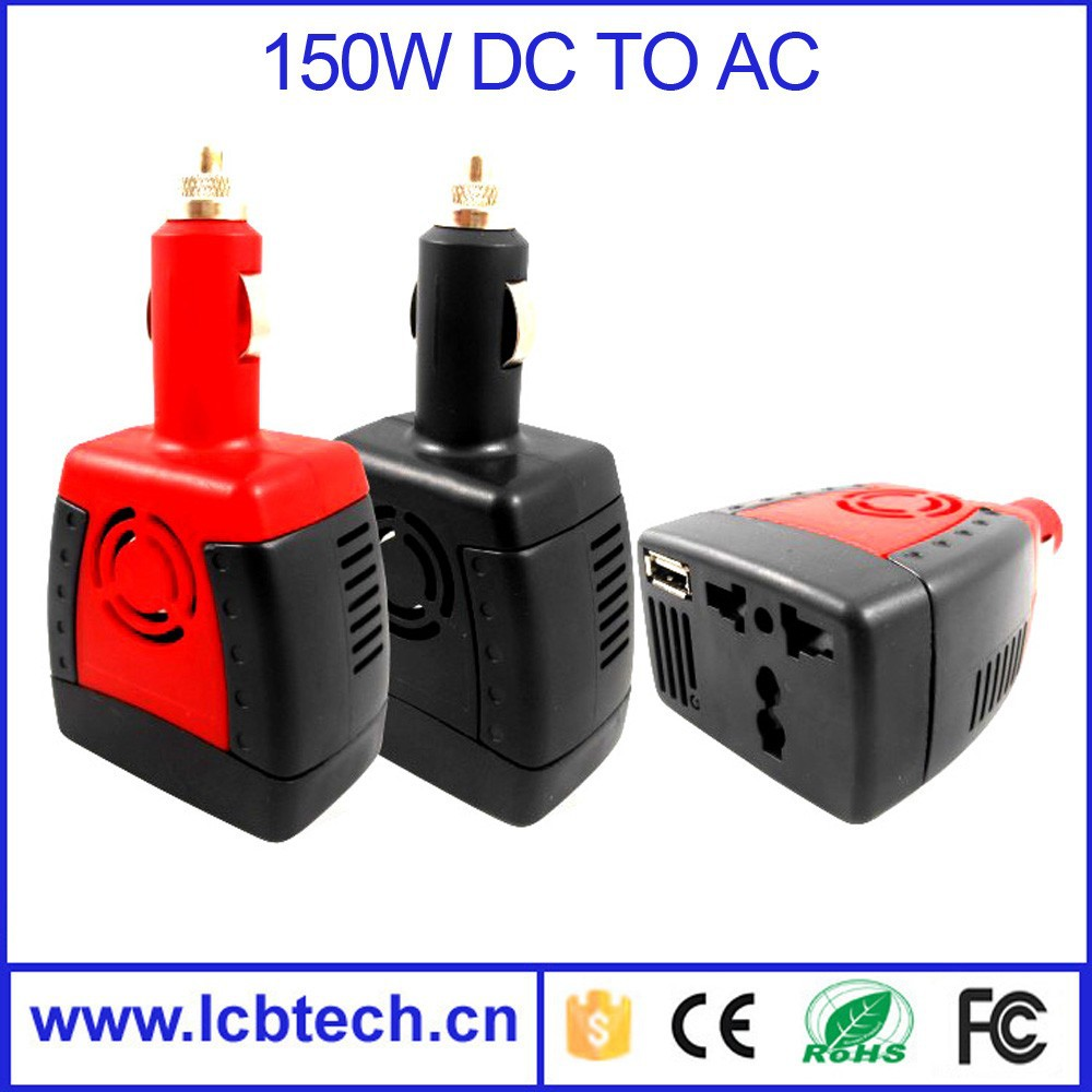 150W DC-AC 12v 220v mini power inverter for car with Blister package
