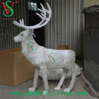 2015 New Acrylic deer sculpture Christmas Holiday LED 3D motif light