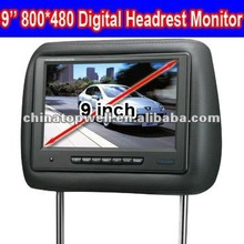9 Inch 800*480 Digital Headrest TFT LCD Monitor with Pillow,IR & TV