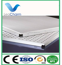 hot soundproof decorative types of ceiling board aluminum perforated false ceiling tile