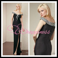 beading sexy 2012 black evening dress