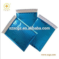 Blue color metallic Aluminium foil bubble air cushioned envelope mailer anti-shock packaging bag