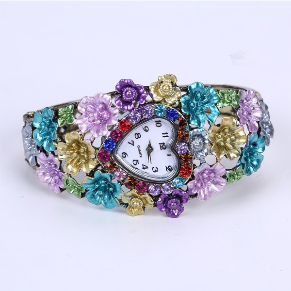 alloy flower factory direct fashion watch