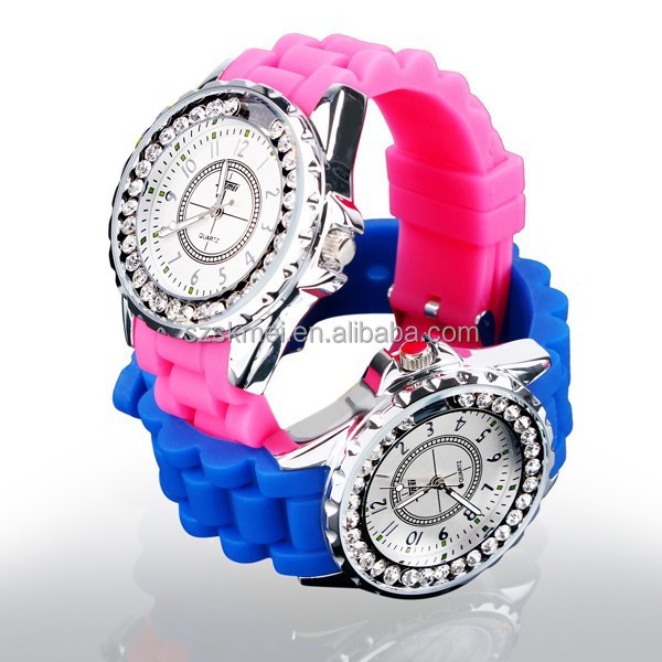 2014 Hot selling top brand newest diamond watches with date and week