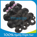 Grade 5A Human Brazilian Virgin Hair Weaves Body Wave 7 Days Returns Guarantee With Free Shipping
