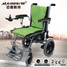 Double motors handicapped folding electric wheel chair for sale
