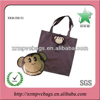 Lovely monkey foldable bag for shopping
