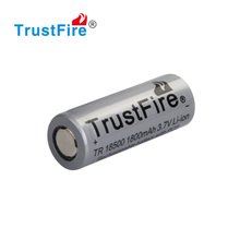 Trustfire portable 18500 3.7v 1800mah li-ion rechargeable protected lithium battery cell
