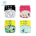 wholesale Happy flute baby washable diaper bamboo charcoal reusable diaper
