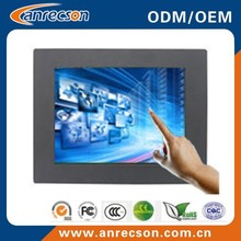Interactive touch screen monitor/15 inch capacitive touch screen monitor/industrial touch screen LCD monitor