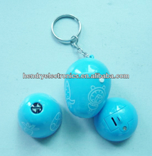 Custom egg shaped LED projector with keychain for gifts