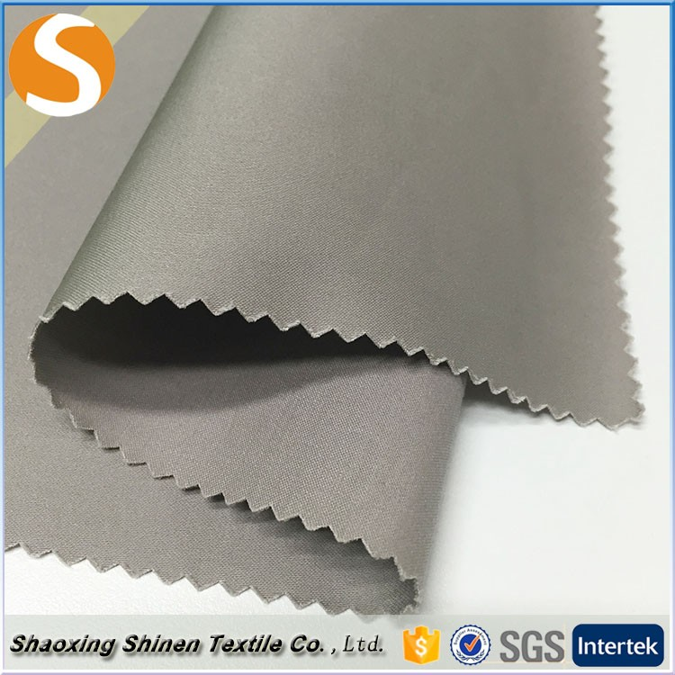Grey satin 97 cotton 3 spandex woven fabric for clothing