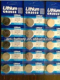 UL/CE Approved 3V Lithium Battery CR2032 Button Cell/CR2032 Battery From ACT Battery Manufacturer