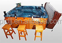 Factory direct sale cheap whirlpool bathtub, high quality outdoor spa jet whirlpool bathtub with tv