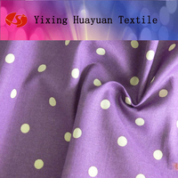 Purple with white dots print fabric/ cotton fabric / y/d fabric