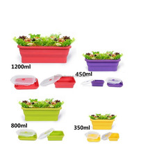 SEDEX 4 Pillar Silicone Collapsible Bins Square Silicone Food Storage Box