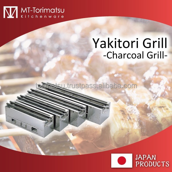 YAKITORI And Roast Dish Cooking Grille Stone And Stainless Material