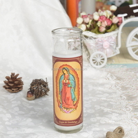 100% paraffin wax religious candles burning time 5days with VELA VIRGEN DE GUADALUPE picture