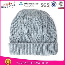 Grey custom design crochet kid knitted baby winter hat