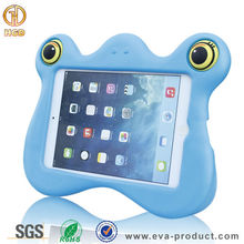 Newest tablet protective case for kids 7 inch , lovely frog 3D cartoon animal shaped monster case for mini ipad