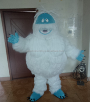 furry white bumble snowman mascot costume for adult with S M L XL size paypal accepted