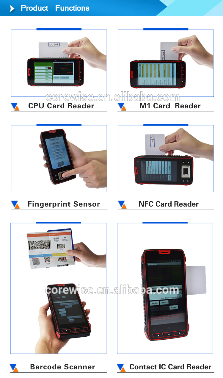 ISO 14443A mini USB 10pin portable contactless smart card reader