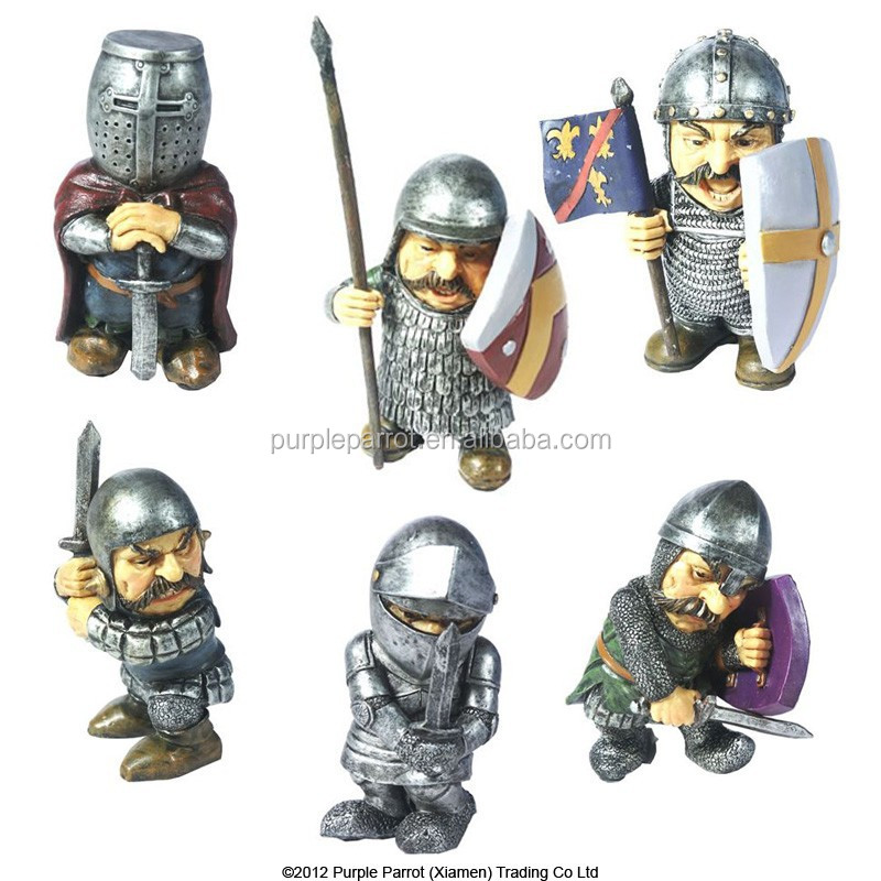 Polyresin Medieval Soldier, knight statue, medieval decor