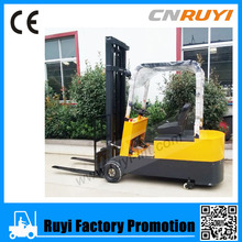 4 Wheels Driven Mini Forklift 1.5Ton Electric Forklift Trucks CPD15 with Battery