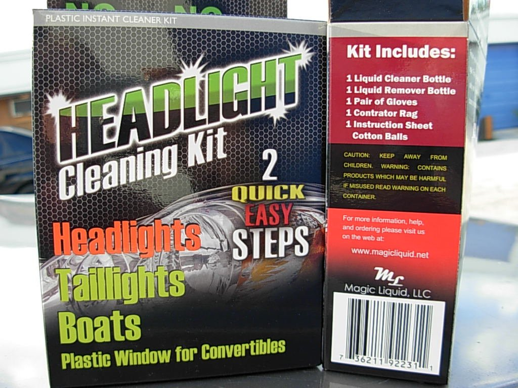 Headlight cleaning KIT Restore lens as manufactory does