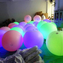 Inflatable LED crowd ball/Zygotes Interactive Lighting Balls/led balloon lights for stage decoration