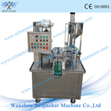 Stainless steel Rotary type automatic high speed rotary yogurt cup filling sealing machine