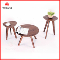 Modern Stylish Wooden Round Coffee Table End Table