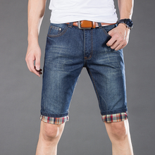 Latest design summer fashion cool boys jeans clothing casual 100% cotton handsome men half jeans