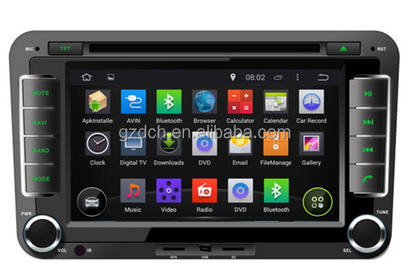 7 inch 4.4.4 android car dvd radio for Skoda OCTAVIA II 1024*600 quad core 1G+16G WS-9137