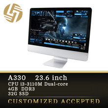 IPS 23.6inch all in one pc core i3 china computer supplier