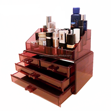 Fashion color wine red lipstick holder & jewelry storage & acrylic makeup organizer