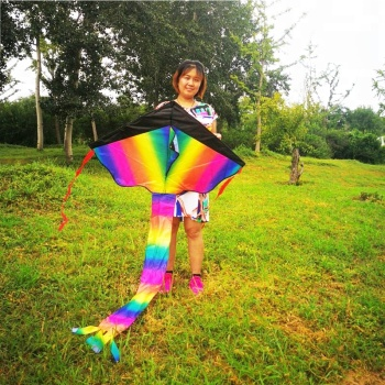 Rainbow Triangle Kite Factory Children Adult Entertainment Kite