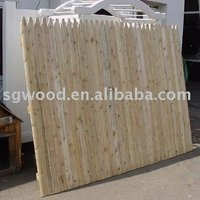 Cheap unique practical Stockade Wood Fence for wholesale