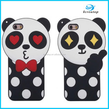 Women Favor Silicon Bumper Back Cover Cute 3D Cartoon Bear Couple Case ,3D Silicon Phone Case For Iphone case Bear Couple
