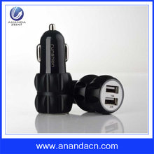 Plastic 2 Port Intelligent cell phone car charger for iPhone5/6/6s and Android