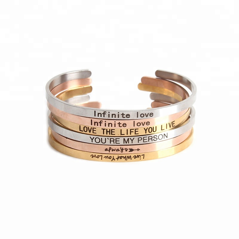 Fashion Message bangle personalized customized bracelets bangle stainless steel bracelets <strong>jewelry</strong>