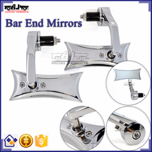 BJ-RM400-04 Highly Recommended Kawasaki Ninja 250 300 Chrome Billet Aluminum Handle Bar End Motorcycle Mirror