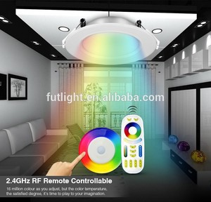 RGBW CCT dimmable downlight leds wifi control 6W 12W Mi-light led smart downlight