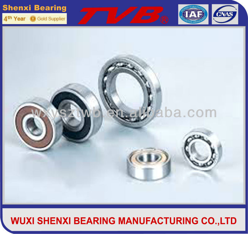 sliding track 6201-ZZV1.5-120 straight ball bearing from jiangsu factory