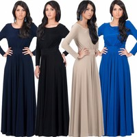 wholesale customization high quality evening party bridesmaid casual wear women long dress
