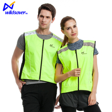 Reflective waterproof USB power running at night led hi vis safety vest