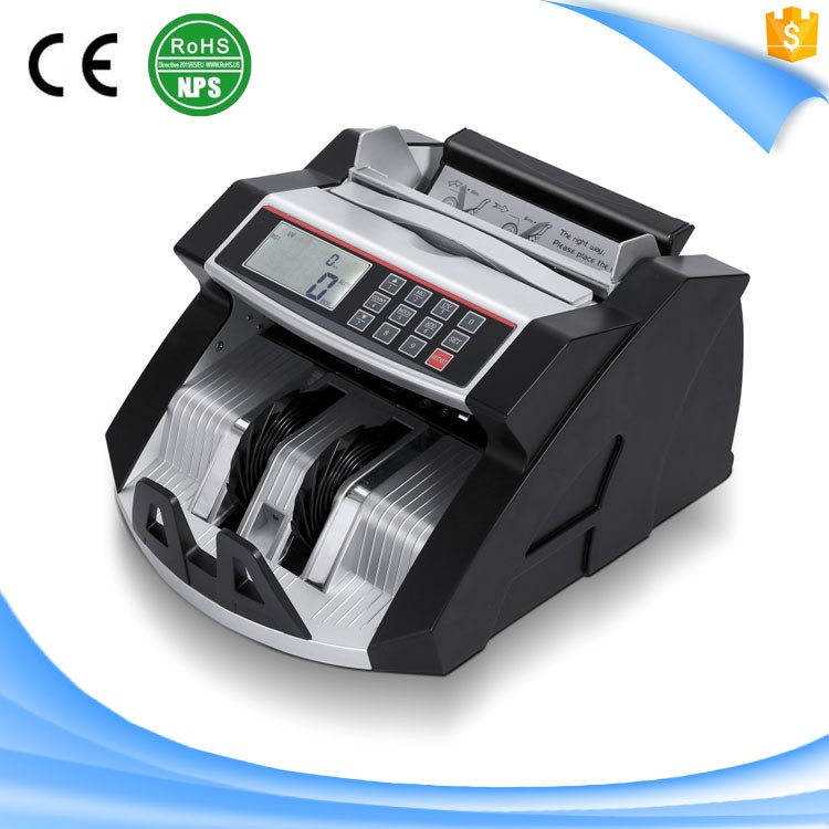 S33 ZC-2108 Bank professional two pocket bill banknote money counter with CE and ROHS approved